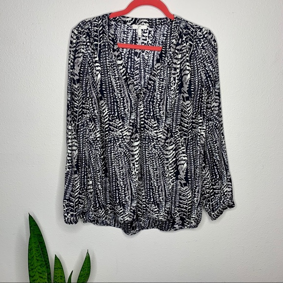 Joie Tops - Joie Black & White Animal Printed 100% Sill Blouse